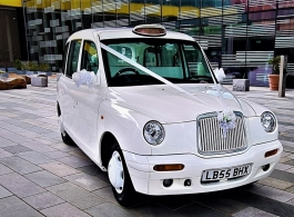 White taxi for wedings in London
